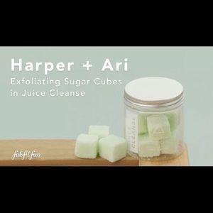 FunFitFab Harper &Ari Juice cleanse exfoliating